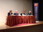 Panelists included (left to right): Joseph Scott, President & CEO of the Jersey City Medical Center; the Hon. Gary S. Schaer, Deputy Speaker of the NJ State Assembly; Wardell Sanders, Esq., President of the NJAHP; Dr. Douglas Ratner, Chairman of Medicine at JCMC.